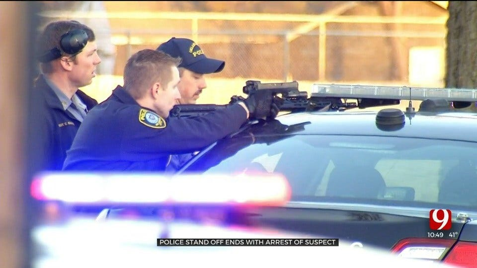 Barricaded Suspect In Custody After 5-Hour Standoff, House Fire In SW OKC