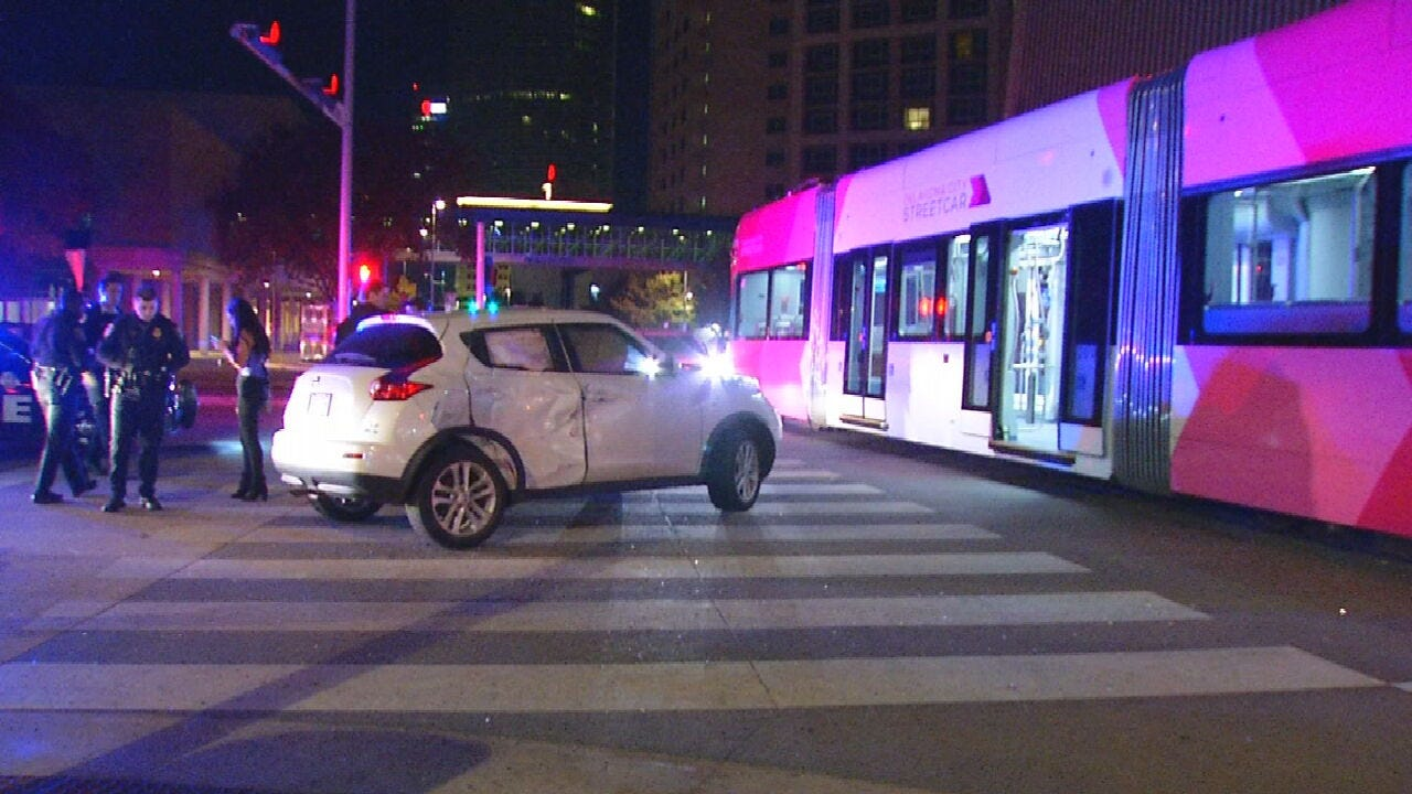 Woman Injured In Crash Involving Street Car