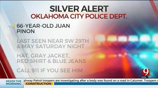 OKC Police Issue Silver Alert For Missing 66-Year-Old Man