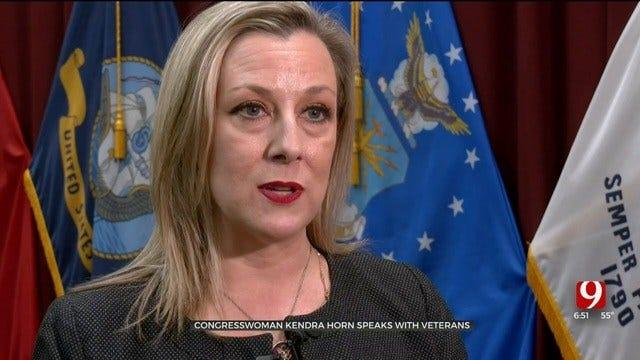 Congresswoman Kendra Horn Speaks With Okla. Veterans