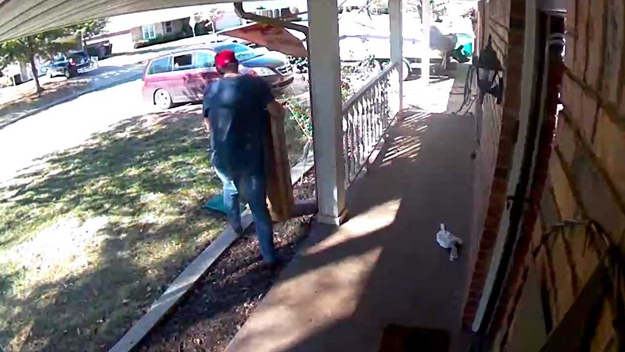 WATCH: Brazen Thief Caught On Camera Stealing From Home In NW OKC