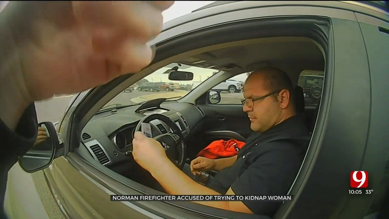 Arrest Caught On Bodycam: Norman Firefighter Accused Of Indecent Exposure, Kidnapping