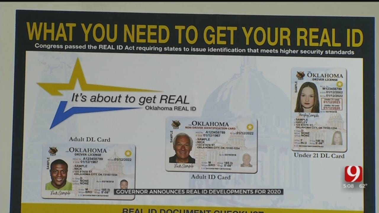 Governor Stitt Announces Real ID Developments For 2020, Suggests Residents Prepare Travel Paperwork
