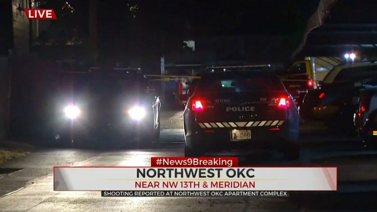 1 Taken To Hospital, Suspect On The Run After Shooting At NW OKC Apartment Complex
