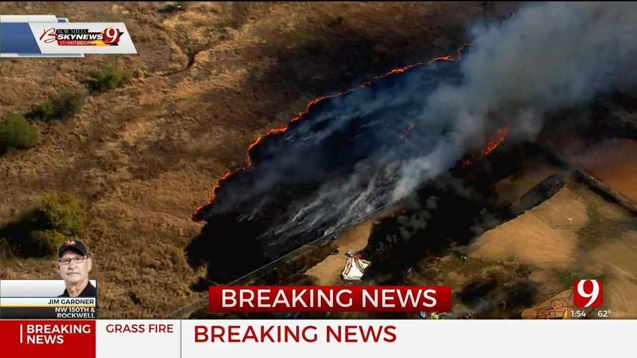 Grass Fire Sparks Near Deer Creek Elementary School