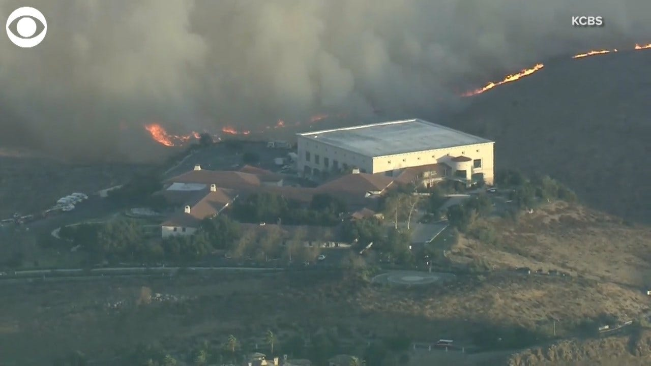 WATCH: Wildfires Threaten Ronald Reagan Presidential Library In Simi Valley, California