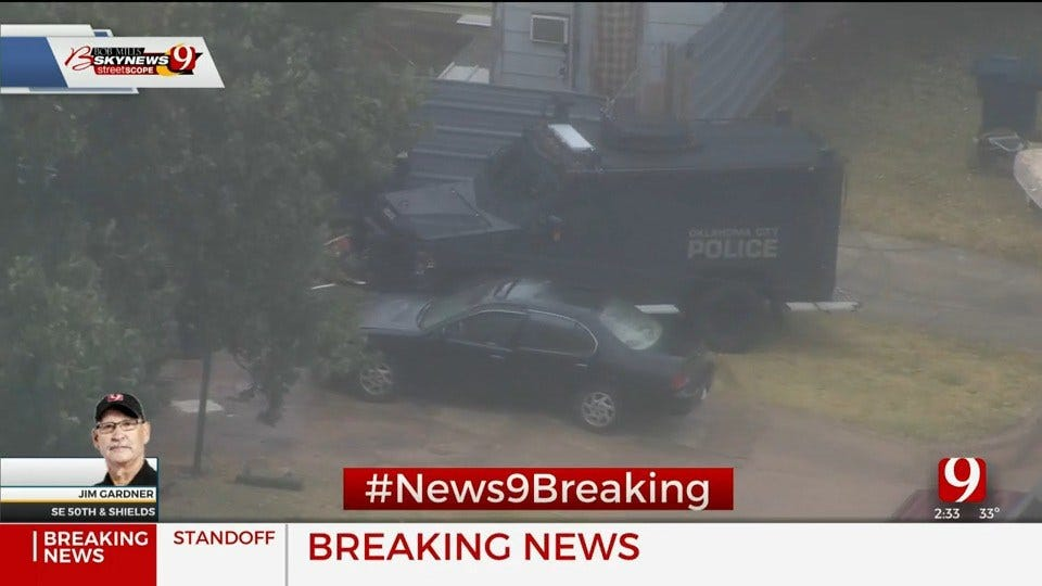 OCPD Involved In Standoff In SE OKC