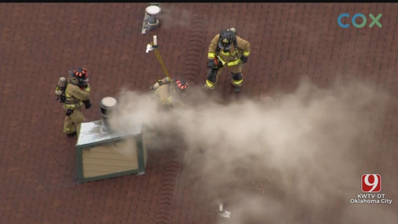 WATCH: Crews Respond To Commercial Fire In NE OKC