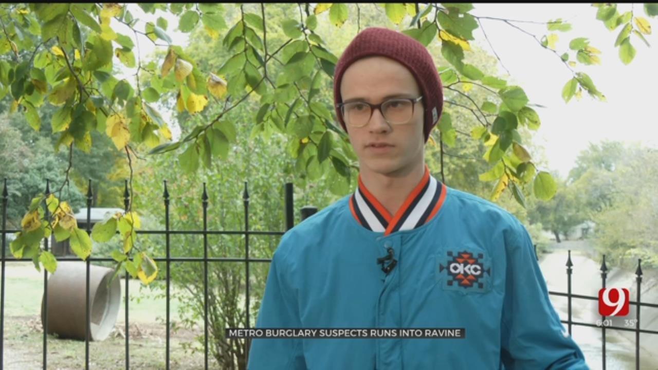 Neighbor Describes Scene After OKC Burglary Suspect Fell Into Ravine