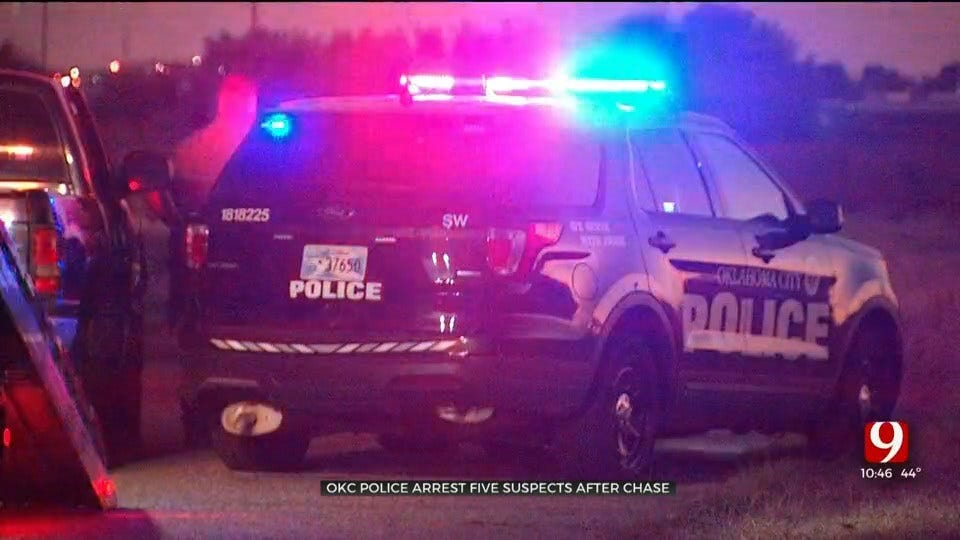 OCPD: 5 Suspects In Custody After Police Chase In OKC