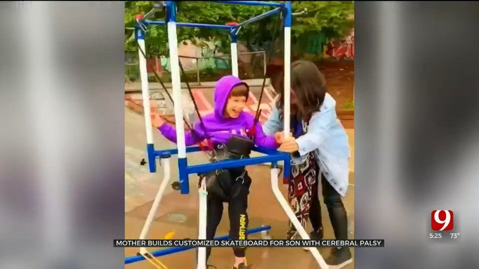 Mother Builds Customized Skateboard For Son With Cerebral Palsy