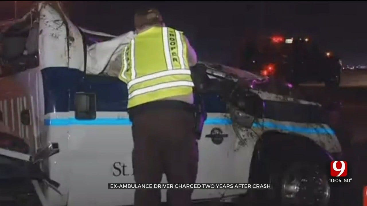 OKC Ambulance Driver Charged With Manslaughter 2 Years After Crash That Killed Patient