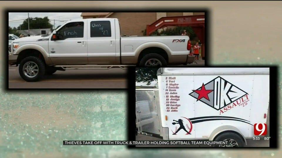 Thieves Steal Lawton Softball Team's Equipment, Truck & Trailer