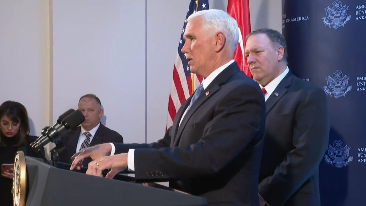 Pence Announces U.S. And Turkey Have Agreed To Ceasefire In Syria