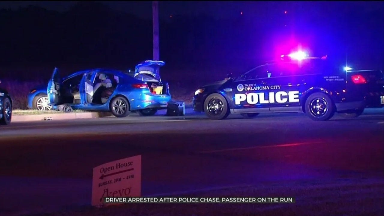 Driver In Custody, 1 On The Run Following Overnight Chase In NE OKC