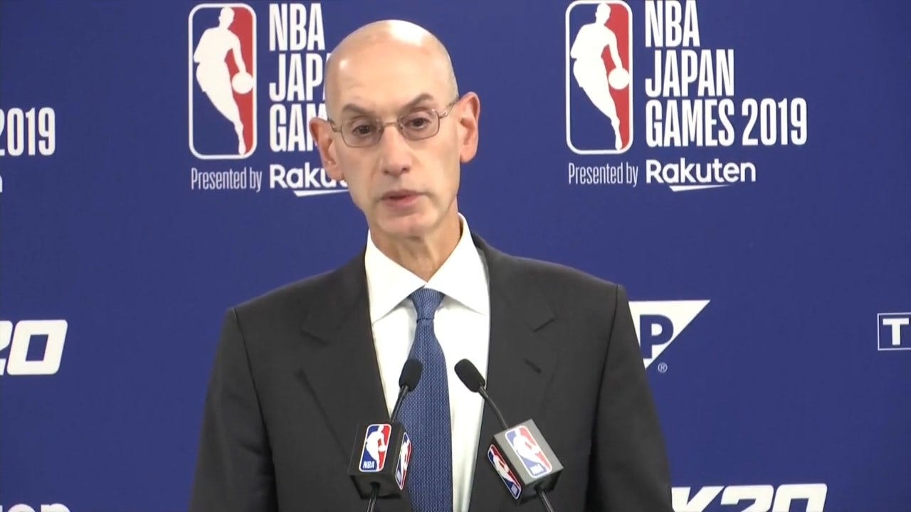 China Threatens To Cut Broadcast Ties As NBA Chief Defends Free Speech