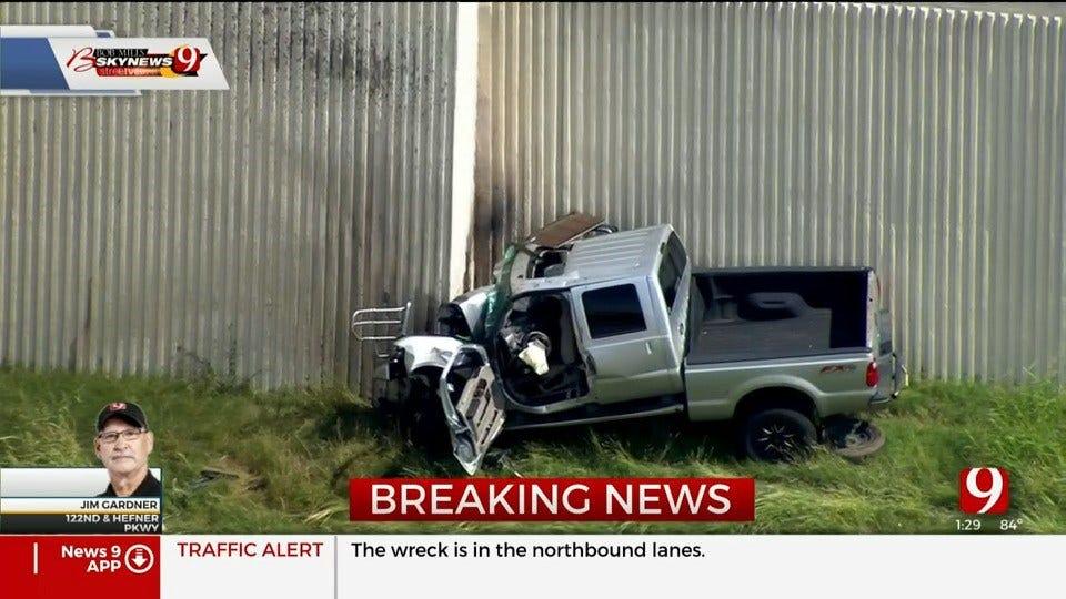 NB Lake Hefner Parkway Shut Down Due To Injury Crash