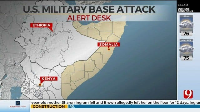 Militants Attack Base Used By U.S. Forces In Somalia