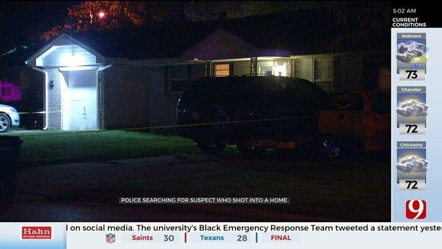 Police Search For Suspect That Shot Into SW OKC Home, Sending 1 To Hospital