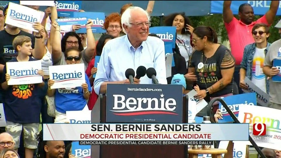 Sen. Bernie Sanders Addresses Healthcare, Criminal Justice Reform And Climate Change During Norman Rally