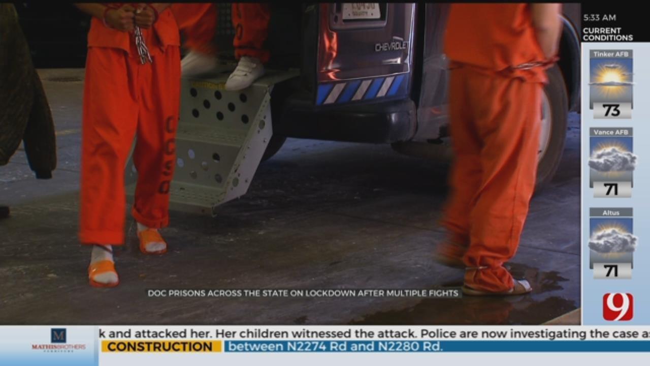DOC Prisons Across Okla. On Lockdown After Multiple Fights