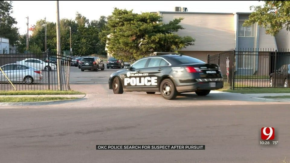 OCPD Searching For Suspect Following Pursuit In OKC