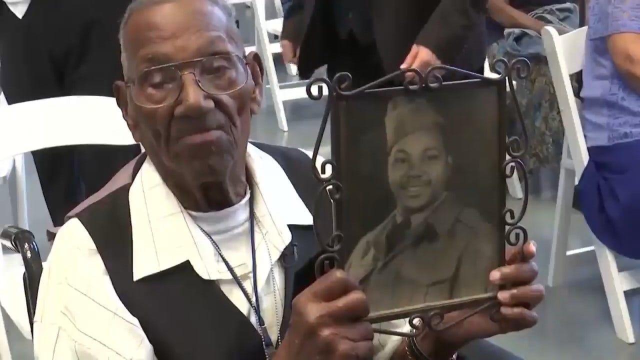 America's Oldest WWII Veteran Celebrates 110th Birthday