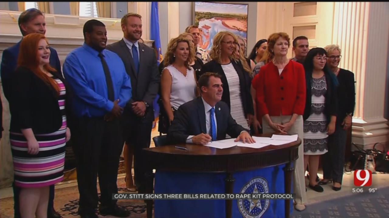 'Great Day For Survivors': Governor Stitt Signs Rape Kit Legislation