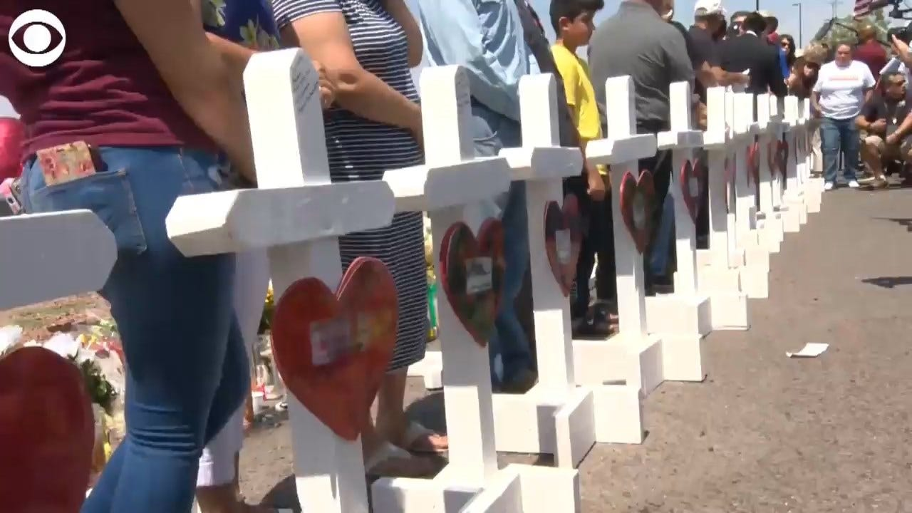 Group Makes White Crosses To Honor El Paso Shooting Victims