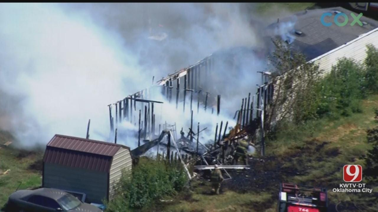Mobile Home A Total Loss After Fire In Luther