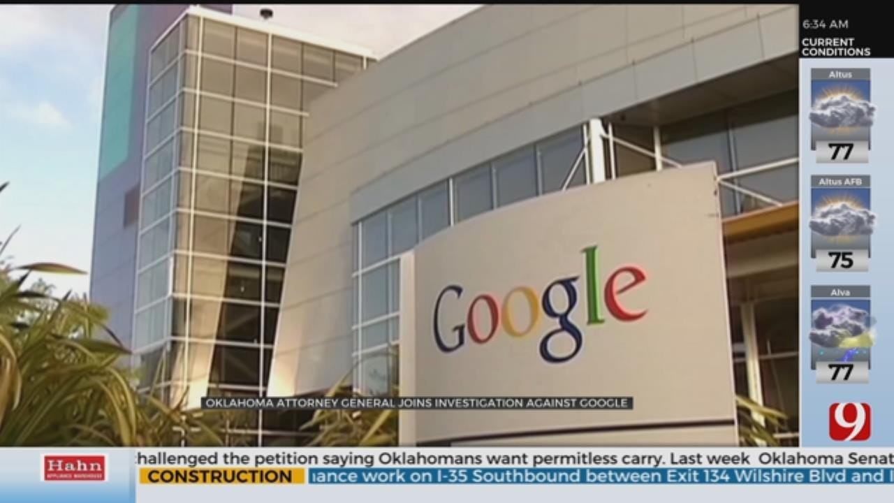 Oklahoma Joins Nationwide Probe Into Google