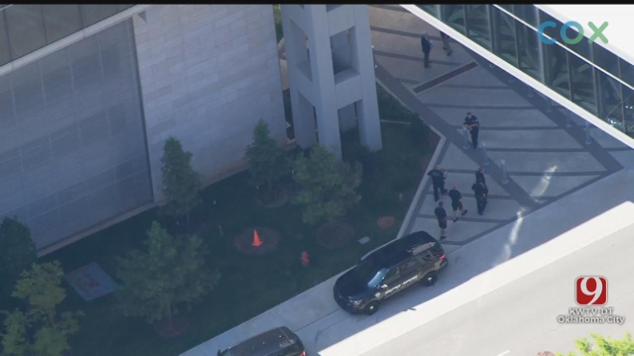 WATCH: Bob Mills SkyNews 9 Flies Over Suspicious Package Investigation In NE OKC