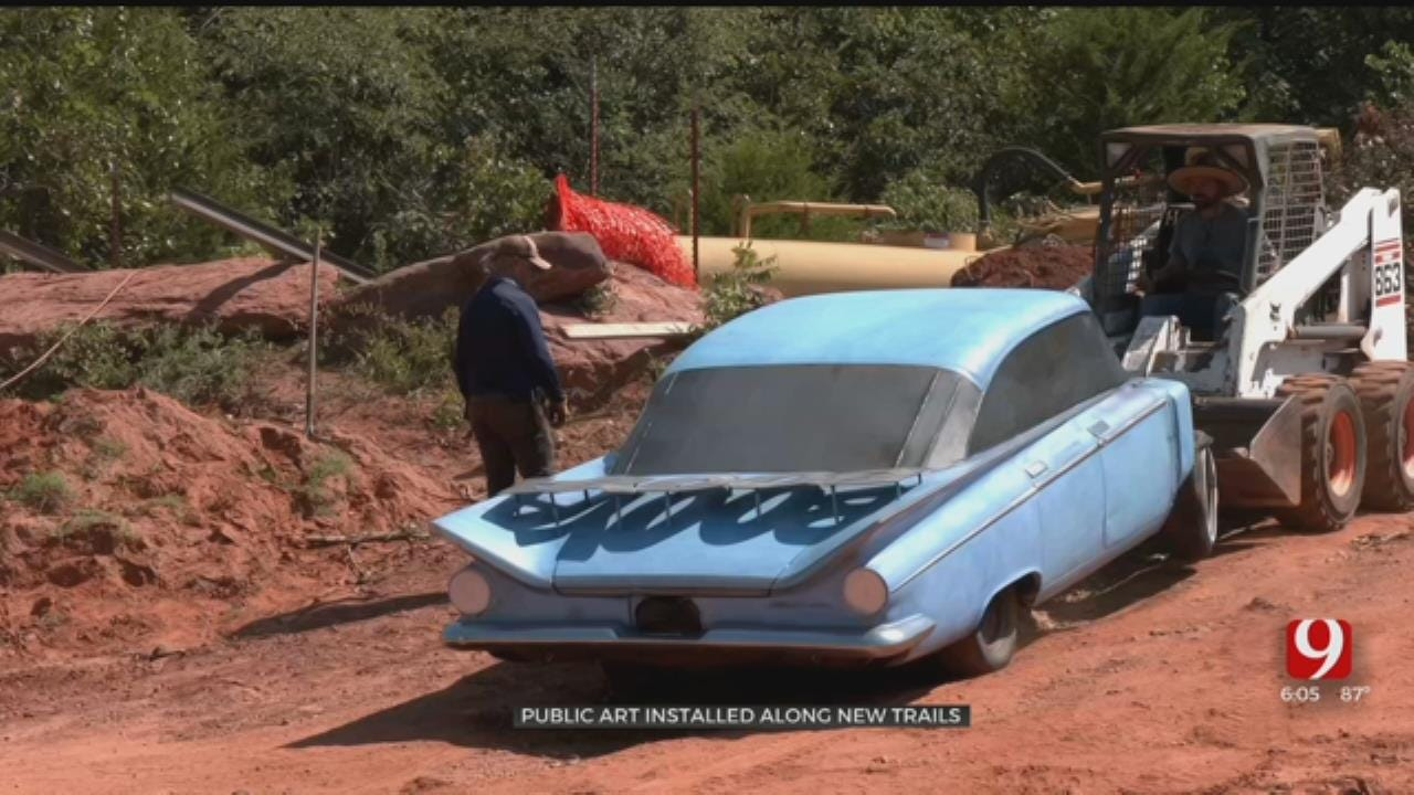 Oklahoma City Installs Public Art To Beautify New Lake Trails