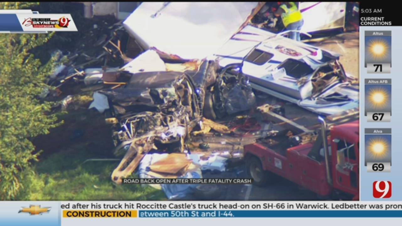OHP Releases Victims' Names In Triple Fatality Wreck Near Anadarko