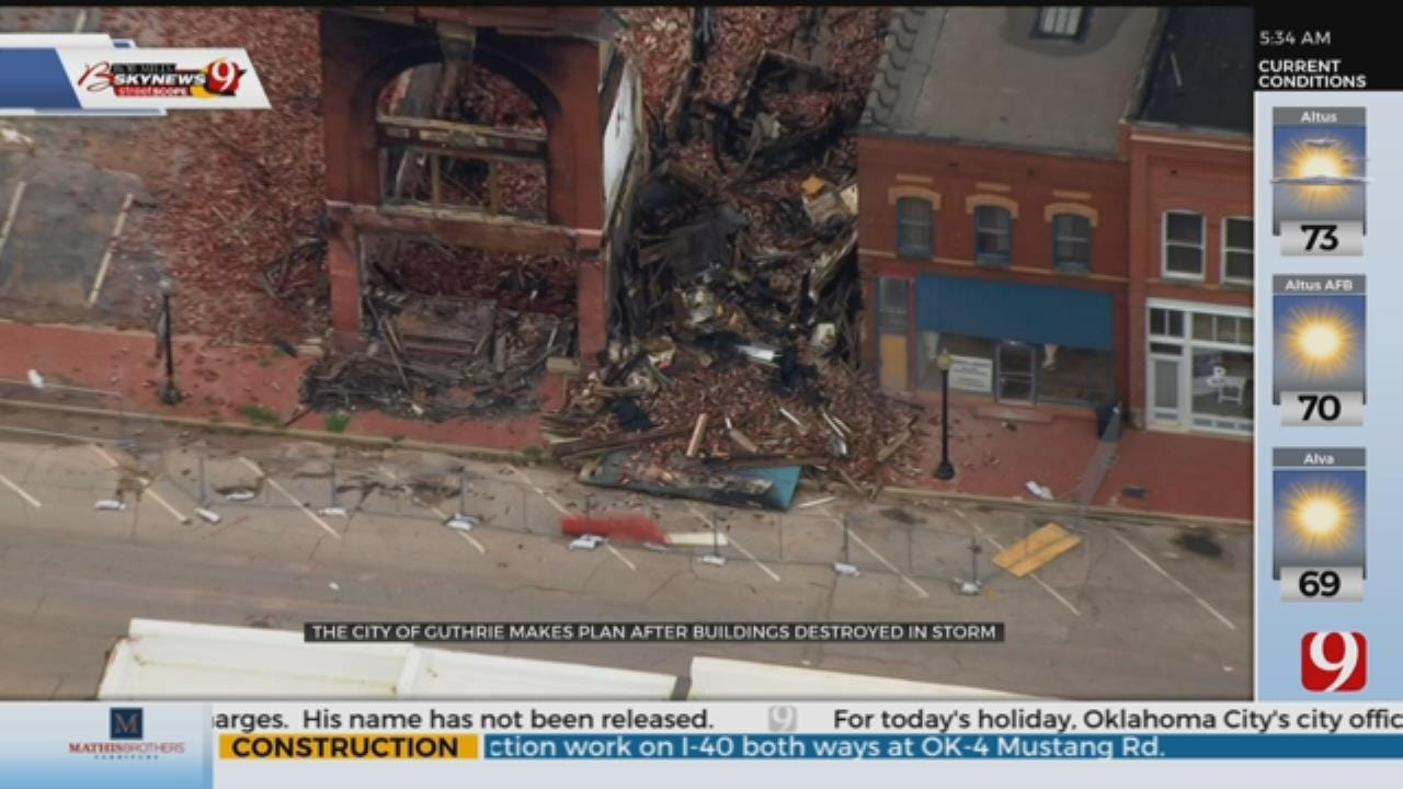 Guthrie Moves Forward After Historic Buildings Destroyed In Last Weeks Storms