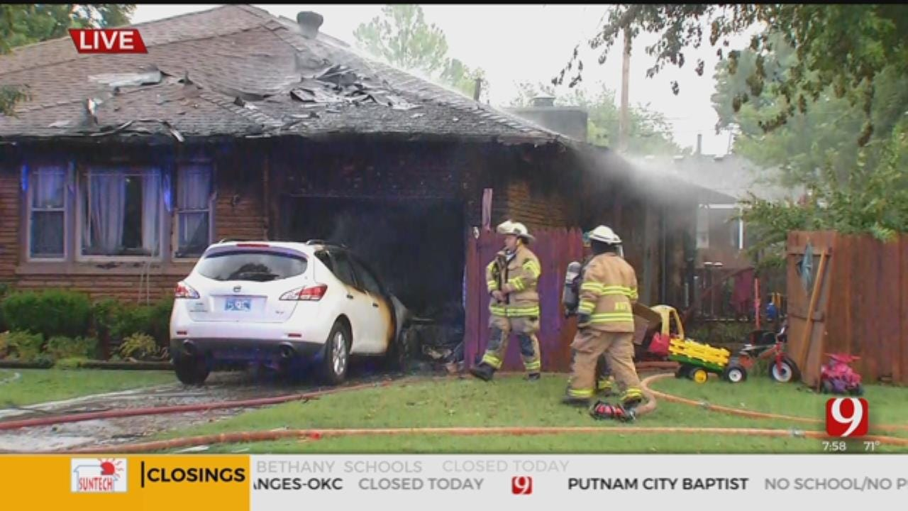 Firefighters Investigate House Fire In The Village