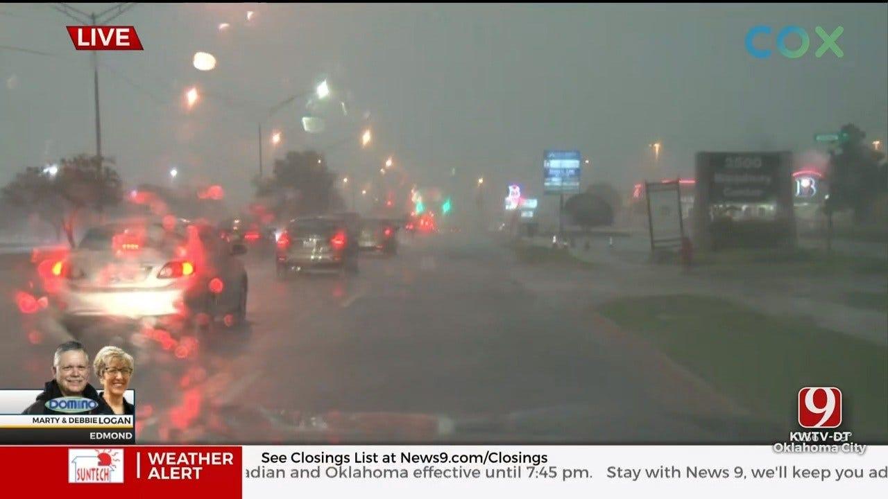 WATCH: Marty & Debbie Track Severe Storm In Edmond