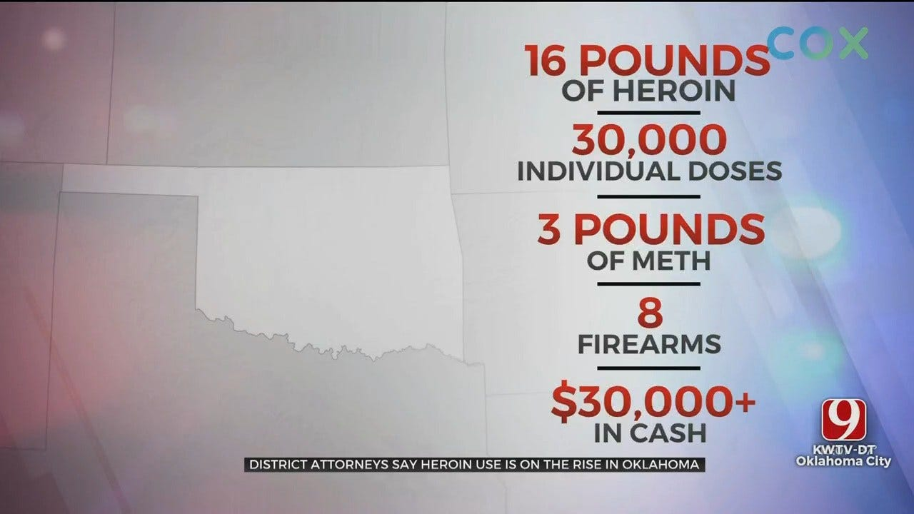 17 Suspects Arrested, 2 On-The-Run After Federal Oklahoma Heroin Bust