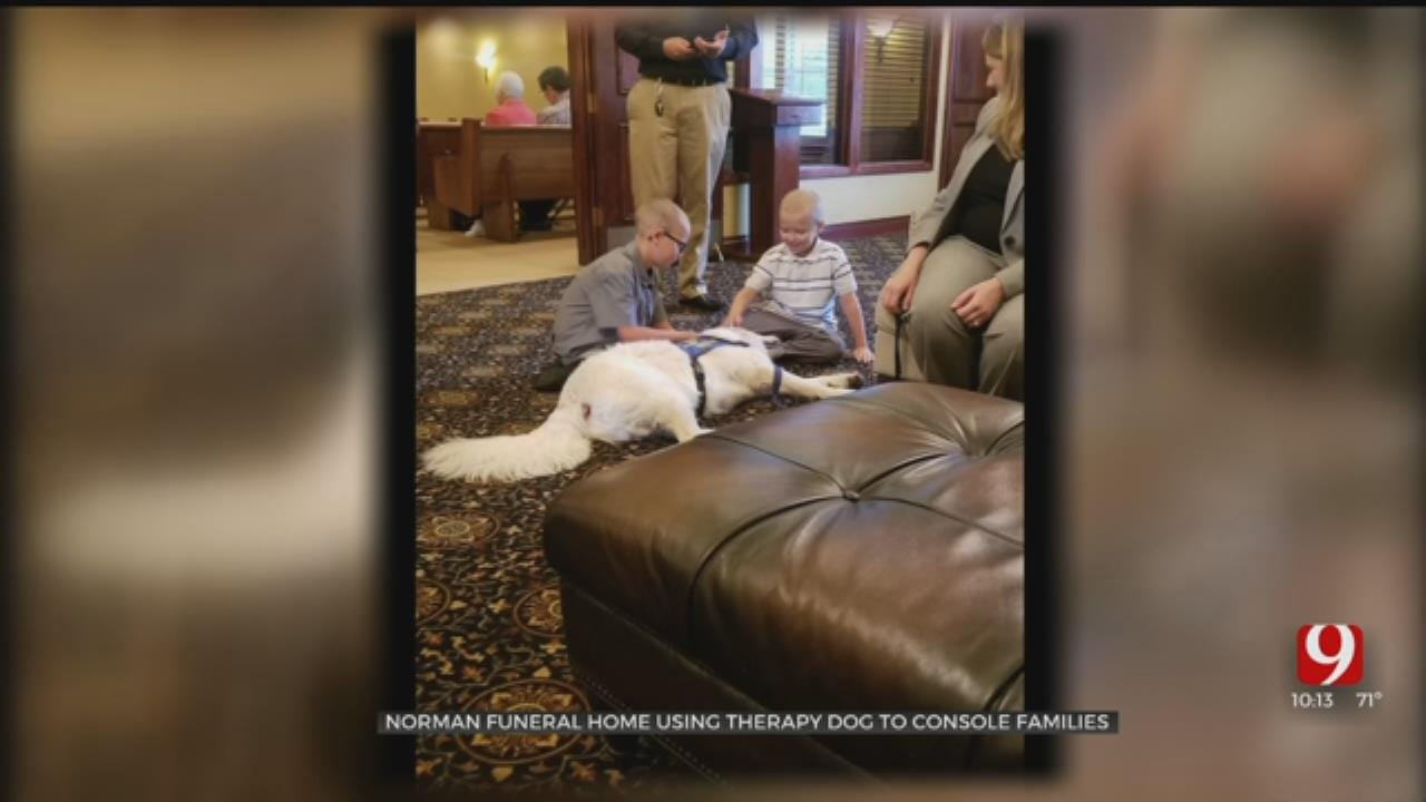 Norman Funeral Home Has Therapy Dog To Help Grieving Families