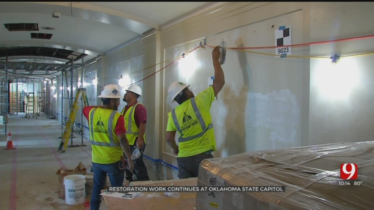 Restoration Work Continues At Oklahoma State Capitol