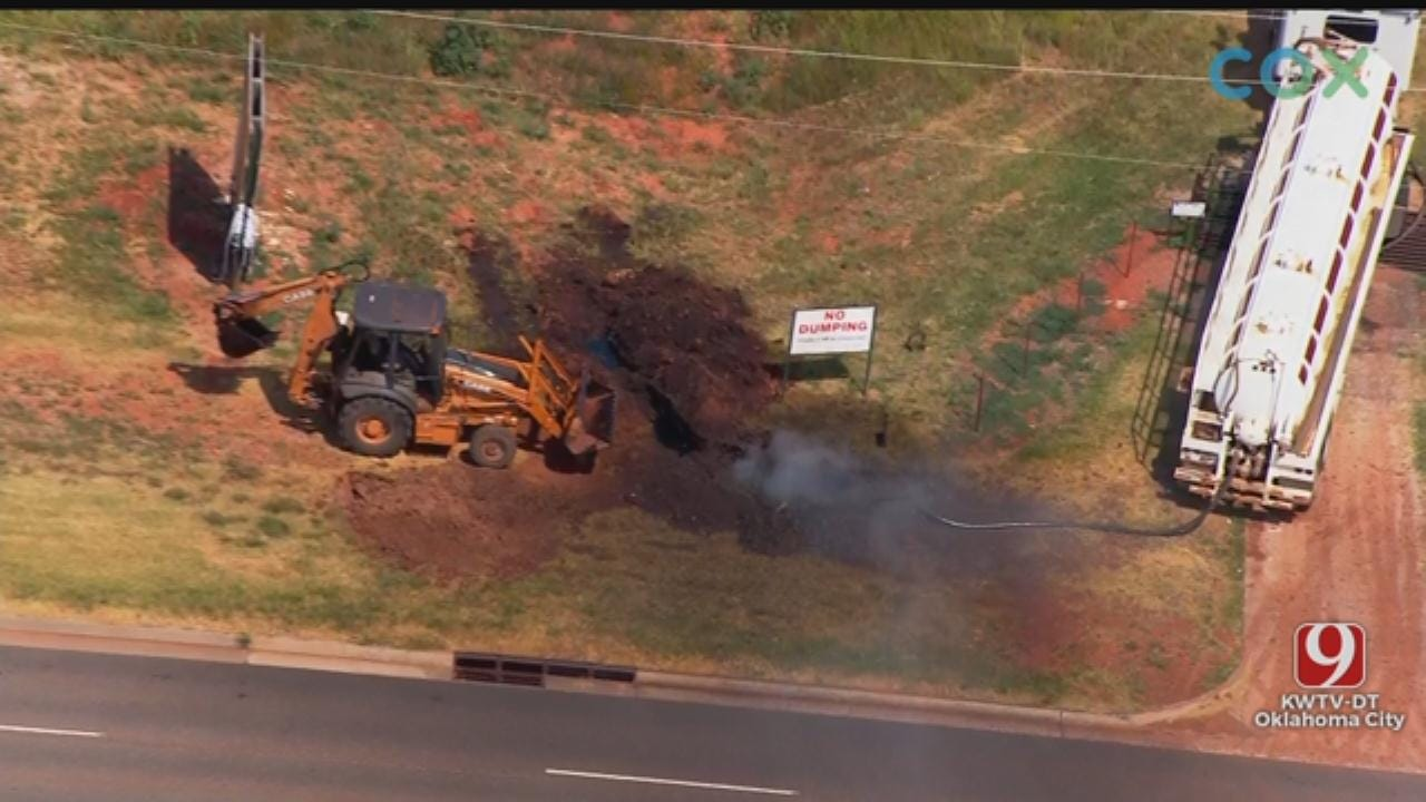 OCFD Works To Repair Cut Gas Line In NW OKC