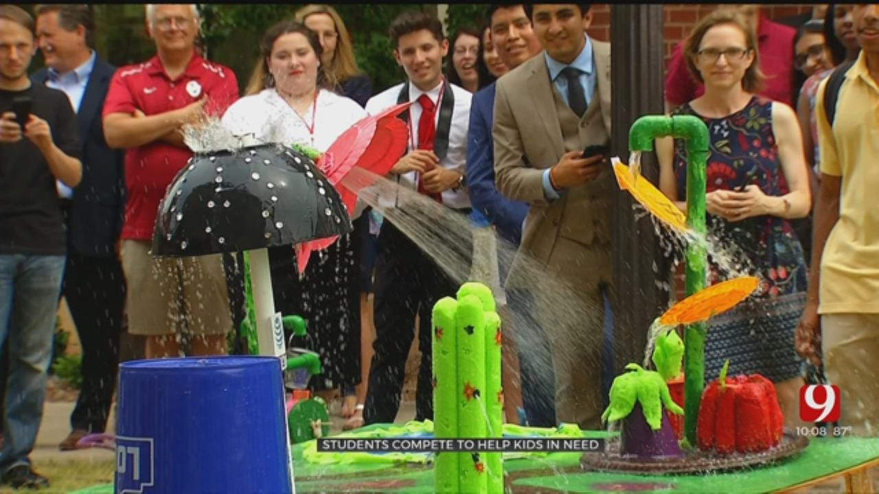 OU Pre-Engineering Students Compete To Construct The Best Splash Pad To Help Kids In Need