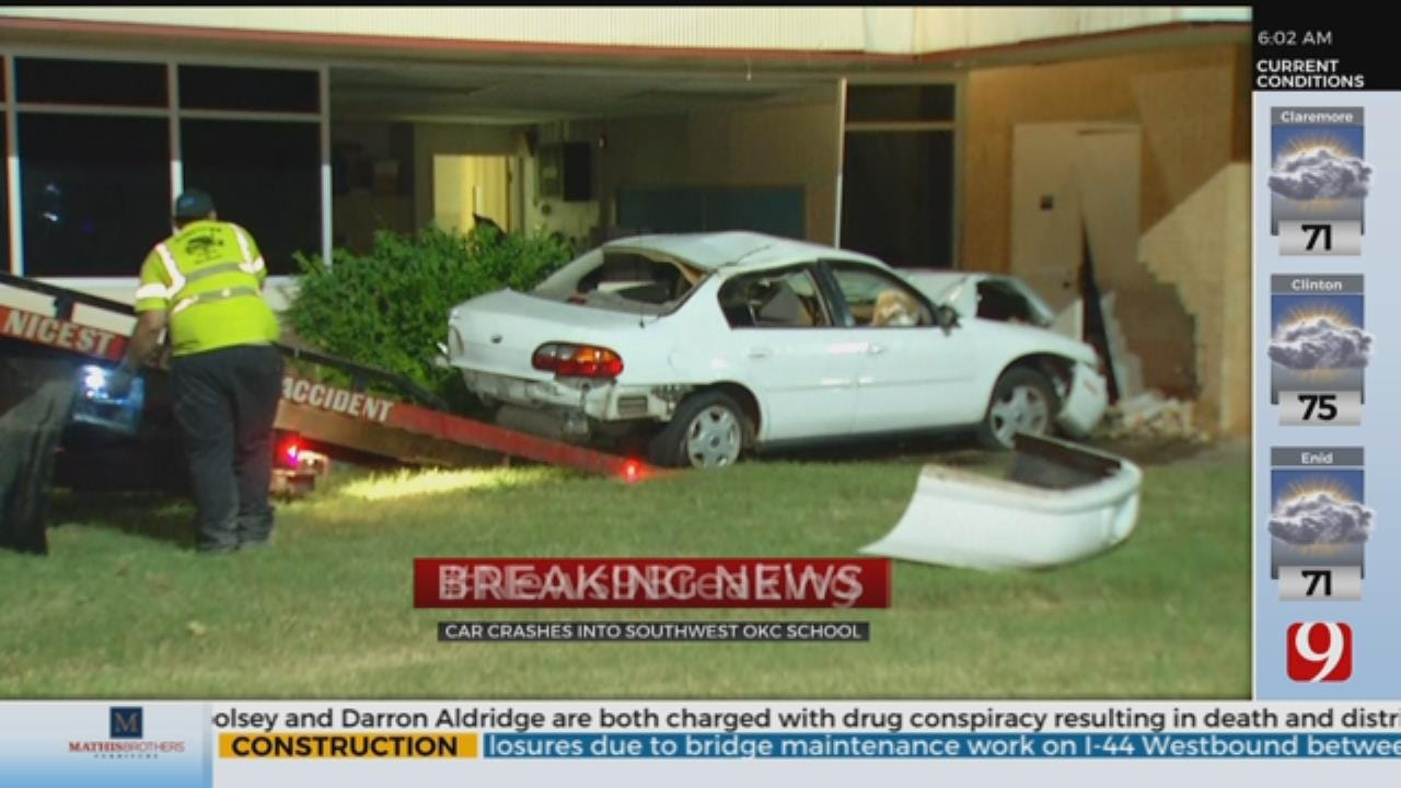 Teen Crashes Car Into SW OKC Elementary School