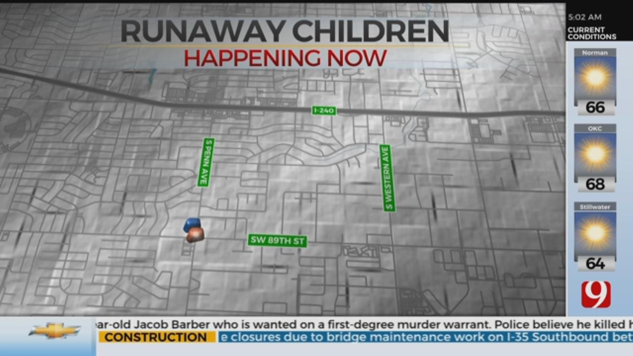 OKC Police Searching For 2 Runaway Children