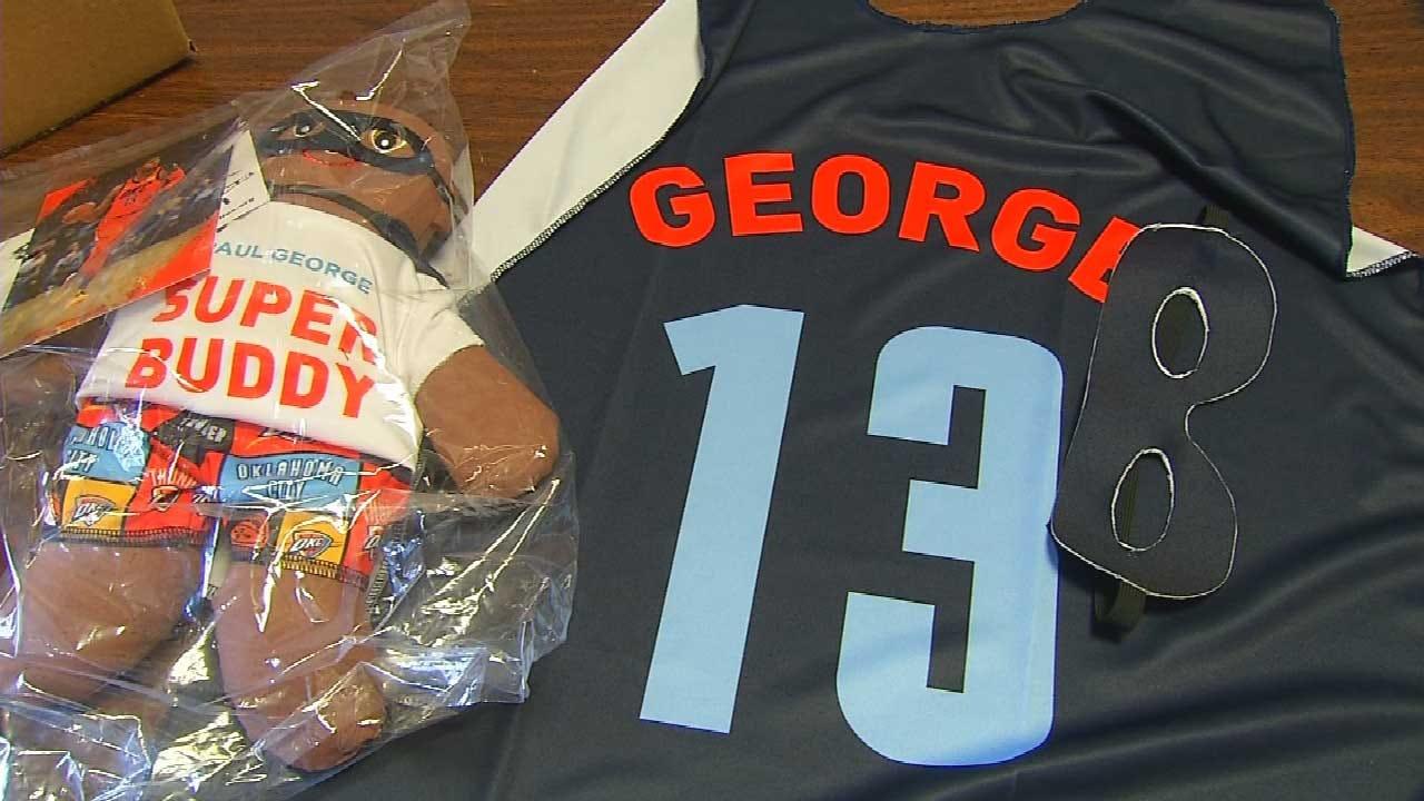 Thunder's Paul George Donates 'Super Buddy' Dolls To EMSA To Help Comfort Children
