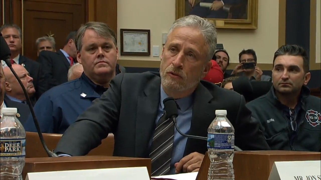 Jon Stewart Lashes Out At Hearing On 9/11 Responders Bill