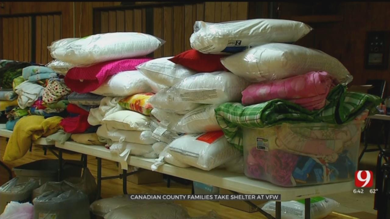 Families Gather At Shelter After Being Displaced By El Reno Tornado