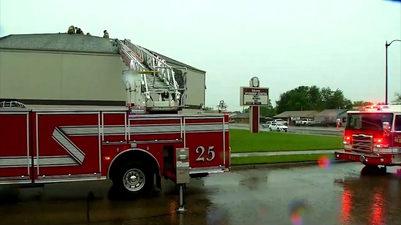 RAW VIDEO: Lightning To Blame For Church Fire In SW OKC