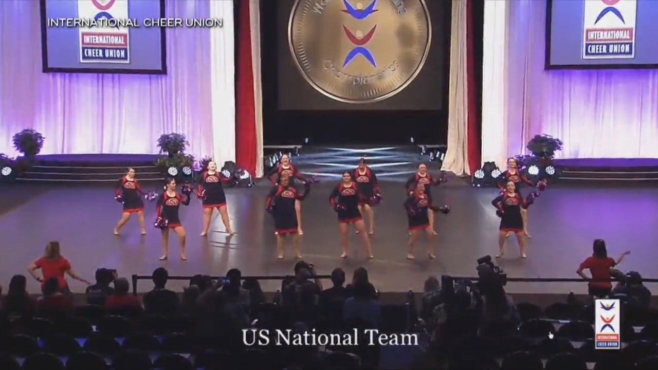 Special Olympic Cheerleading Teams Compete At The World Championships