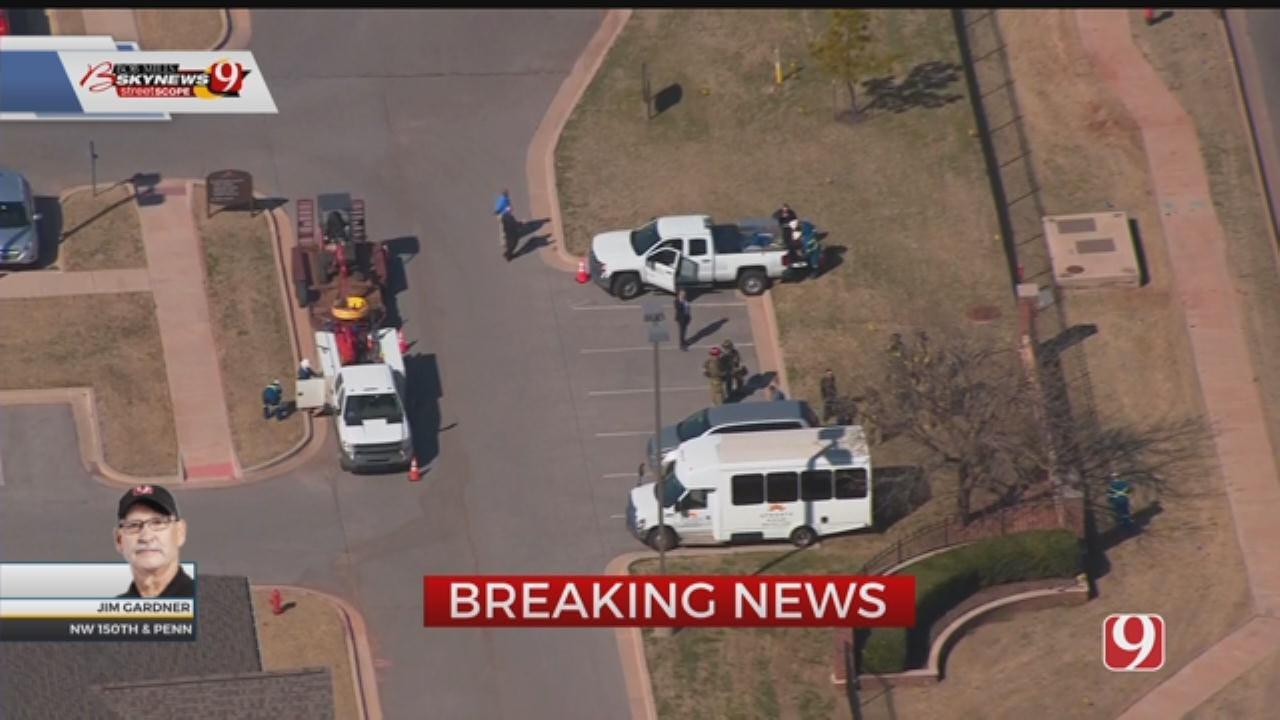 Bob Mills SkyNews 9 Flies Over Gas Leak In NW OKC